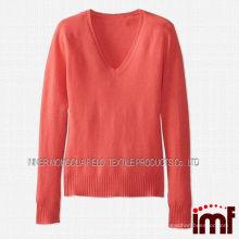 Latest design winter sweater ladies cashmere v-neck cardigan