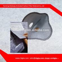 máscara de filtro de carvão ativado de proteção de trabalho