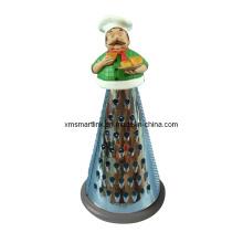 Ralador de cozinha de resina com decoração de chef