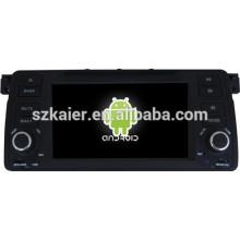 Android 4.4 Miroir-lien Glonass / GPS 1080p dual core lecteur GPS de voiture pour BMW E46 avec GPS / Bluetooth / TV / 3G