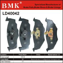 Plaquettes de frein de qualité avancée (LD40042)