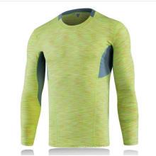 5 cores de manga comprida apertado intenso treino homens t-shirt