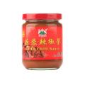 Salsa de chile con ajo y tarro de vidrio de 230 g