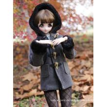 Mädchenkleidung Dunkelgrauer Mantel für SD/DD/MSD
