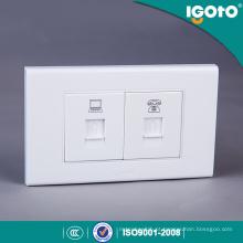 Igoto American Style A1072-3 Computador e telefone Jack, Rj11 Wall Socket