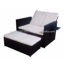 Wicker Outdoor / Garden Furniture - Gaslift backrest double seater