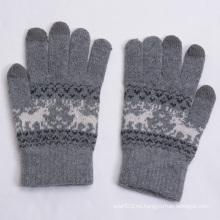 Guantes tibios de tacto de lana gruesa