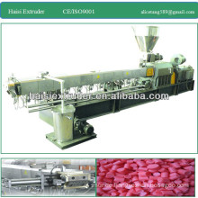 TSE-135 twin screw PP/PE/PVC plastic extruder machinery