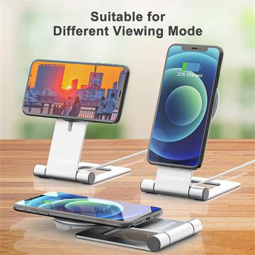Support de téléphone en aluminium avec chargeur sans fil magnétique