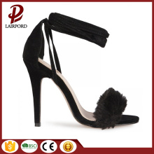 fashionable high heel suede strap women sandals