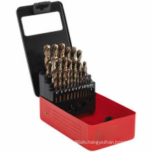 25PC HSS Cobalt Fully Ground Drill Bit Set