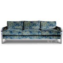 Tela impressa do couro do falso da camurça para as tampas e a decoração do sofá