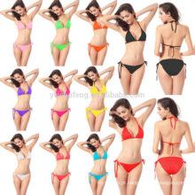 Frete grátis Sexy Mulheres Bandage Bikini Set Push-up Acolchoado Sutiã Maiô Maiô Swimwear