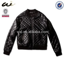 Plus size Women jacket; Rock PU jacket;feather jacket;faux leather jacket