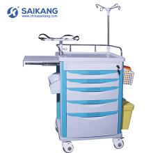 Trole de serviço público dos cuidados médicos funcionais do ABS do hospital SKR-ET121 com rodízios