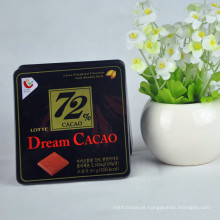 Custom Unique Chocolate Tins Packaging Container Rectangular Metal Chocolate Tin Box Atacado