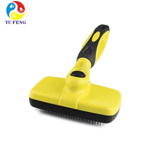 Dog brush self cleaning slicker pet shedding grooming tool Dog brush self cleaning slicker pet shedding grooming tool
