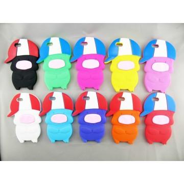 Lustige Schwein bunte Cartoon Mini Silikon Schlüssel Teile (HY-KA-001)