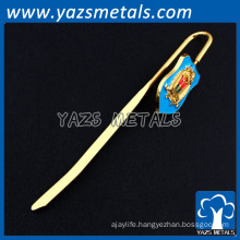 promotion antique brass custom metal bookmarks