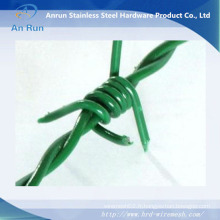Usine de fil de fer barbelé en PVC