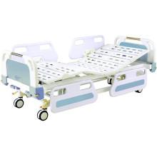 Cama de hospital de bloqueo central movible médico completo de Fowler con cabeceras de ABS