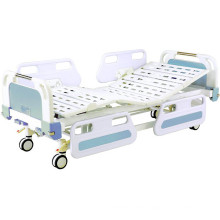 Medical Movable Full-Fowler Central Locking Hospital Bed with ABS Headboards
