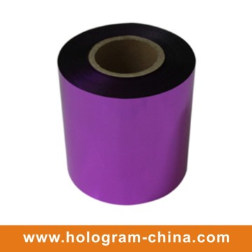 Aluminio Tamper Proof Embossing Purple Foil