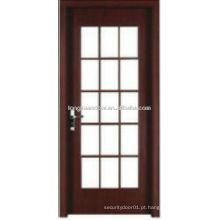 WPC PVC porta de cozinha porta de cozinha com grelhas de vidro design