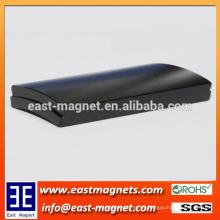 Los imanes del neodimio del segmento del arco de la alta calidad para el motor / epoxy cubrieron el imán del ndfeb del bloque para la venta