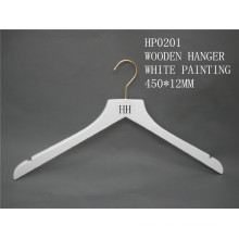 HH-Marke hochwertige weiße Kleidung Top Aufhänger für Mantel Anzug mit Messing Haken