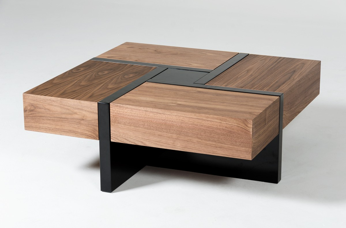 Wood veneer tea table