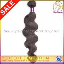 Тело волны на линии 3 кусок сильный утка завод Продажа необработанных 5А перуанский волос