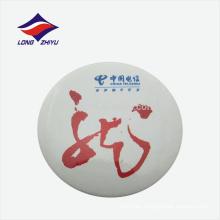 Personalizado ronda de impresión logotipo de la compañía de estaño insignia, hecho en Guangdong