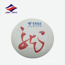 Custom round printing logo company tin badge, made in Guangdong
