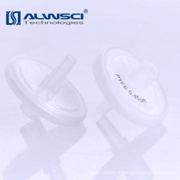 Seringue de 13 mm 25 mm Filtres de 0,45 micron avec impression pour instrument de laboratoire