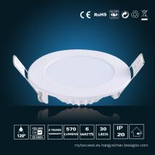 Panel de LED de 6W de luz φ 120 * 16mm