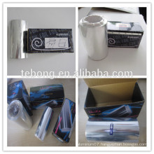 Product box and foil packaging for hair extensions