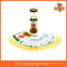 heat sensitive water proof heat shrink label with your design for glass bottles