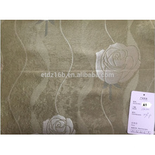 2016 nueva tela grande del apagón del diseño de Rose del telar jacquar del poliester de la llegada 100% para la ventana