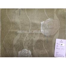 2016 nouvelle arrivée 100% polyester grande Jacquard Rose design tissu noir pour fenêtre