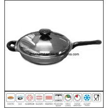 Stainless Steel Skew Frypan Gourmet Skillet