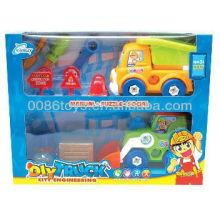 2013 novidade engraçado desenhos animados engenheiro carro conjunto DIY brinquedos