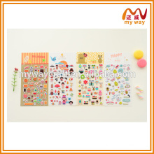 Adesivos de desenho animado adoráveis, adesivos de decoração personalizados