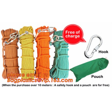 climbing rope, protective escape rope polyester rope, escape rope, High-altitude escape rope rescue rope(fire escape,rescue,fire