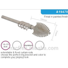 A19470 extendable fixed curtain rod,decoration paint metal curtain rod finial,curtain accessories