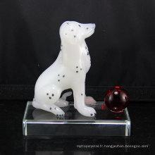 Meilleur prix qualité supérieure Pujiang Handmade Crystal Animal Dog Crafts