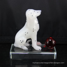 Best price superior quality Pujiang Handmade Crystal Animal Dog Crafts