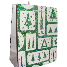 Novelty Luxo Glitter saco de papel revestido com alça personalizada