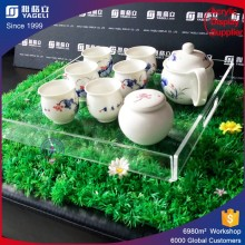 Plateau de plexiglas à plateau en acrylique à vente directe en usine