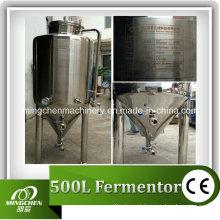 Tanque de fermentador cônico de aço inoxidável, fermentação industrial (aprovado pela CE)